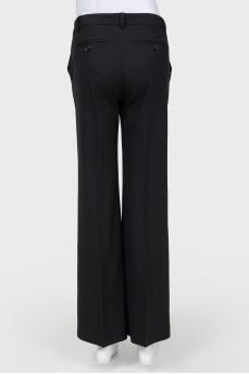 Классические черные брюки прямого кроя