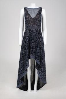 Вечернее темно-синее платье в пол с биркой