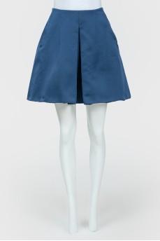 Темно-синяя юбка на молнии