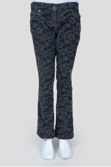 Вельветовые брюки с принтом