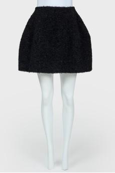 Черная юбка-колокол на молнии