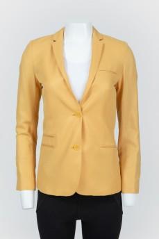 Желтый пиджак со стразами