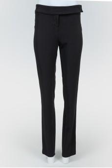 Черные брюки высокой посадки с биркой