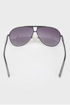 Солнцезащитные очки авиаторы черные