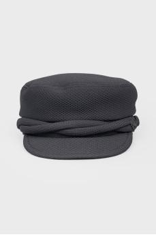 Текстильная кепка черного цвета
